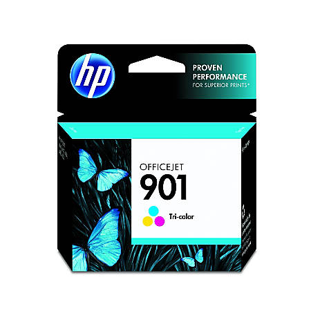 HP 901, 50% Recycled, Tricolor Original Ink Cartridge (CC656AN)