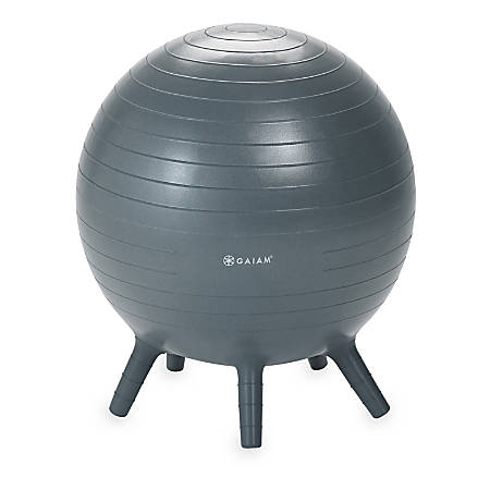 Gaiam Kids' Stay-N-Play Inflatable Ball Chair, Gray