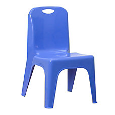 Flash Furniture Stackable School Chair Blue