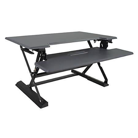 "Victor® High Rise™ DCX760 Height-Adjustable Standing Desk Riser, 36"", Gray/Black"