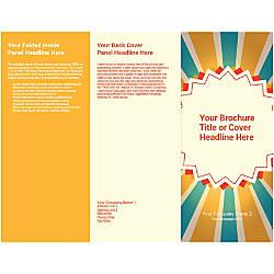 Customizable Trifold Brochure BlueYellow Rays