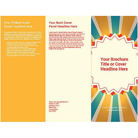 Customizable Trifold Brochure, Blue/Yellow Rays