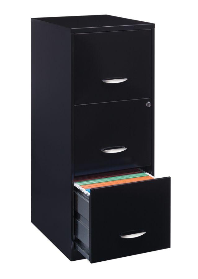 Lovely 3 Drawer Letter Size Vertical File Cabinet Black