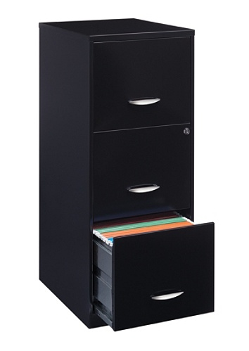 Reale 18 D 3 Drawer Vertical File Cabinet Black By Office Depot Officemax