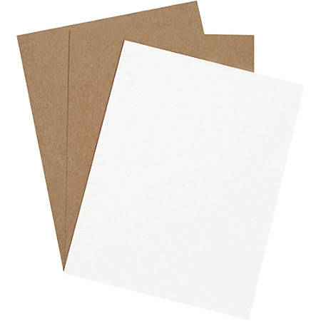 """Office Depot® Brand Chipboard Pads, 8 1/2"""" x 11"""", White, Case Of 960"""