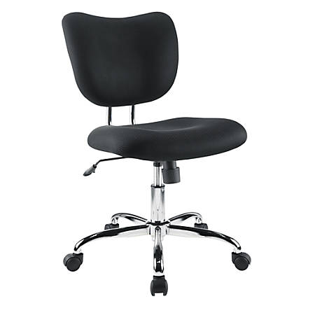 Brenton Studio® Jancy Mesh Fabric Low-Back Task Chair, Black/Chrome
