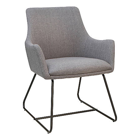 Lorell® Flannel Sled-Base Guest Chair, Gray