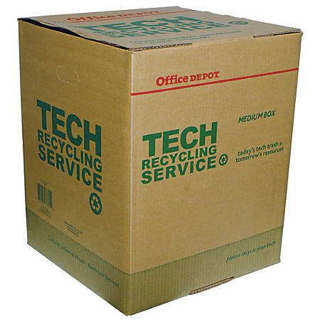 "Tech Recycling Box, Medium, 20""H x 16""W x 16""D"