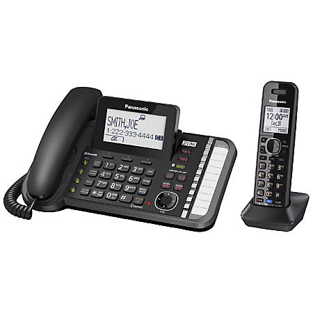 Multi line cordless phones at office depot panasonic link2cell dect 60 conference phone sciox Images