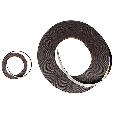 "Zeus Magnetic Labeling Tape, 1/2"" x 10', Black"