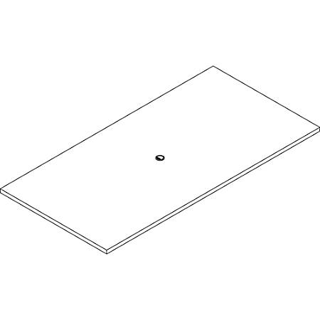 """Lorell Prominence 2.0 Rectangular Conference Tabletop - Espresso, Laminated Rectangle Top - 96"""" Table Top Width x 48"""" Table Top Depth x 1.50"""" Table Top Thickness - Assembly Required"""