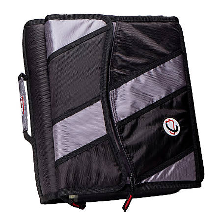 """Case-It® Zipper Binder, 1 1/2"""" D-Rings, With Built-In 5-Tab File"""