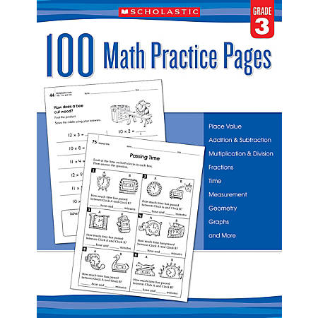Scholastic Teacher Resources Math Practice Pages, Grade 3