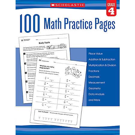 Scholastic Teacher Resources Math Practice Pages, Grade 4