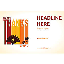 Adhesive Sign Happy Thanks Giving Horizontal
