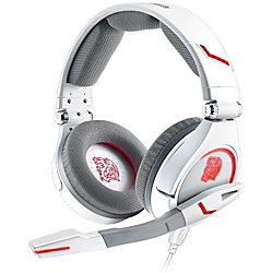 Tt eSPORTS CRONOS Combat White - Stereo - USB, Mini-phone - Wired - 20 Hz - 20 kHz - Over-the-head - Binaural - Circumaural - 5.91 ft Cable - White