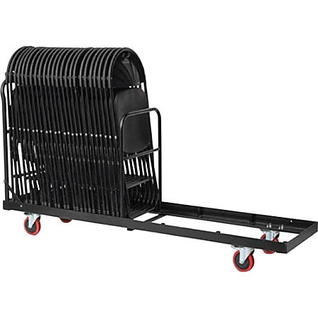 """Samsonite 2200 Series Chair Trolley - 4 Casters - 77"""" Length x 20"""" Width x 42"""" Height - Steel Frame - Brown - For 35 Devices"""
