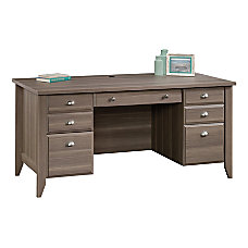 Sauder Shoal Creek Executive Desk Diamond