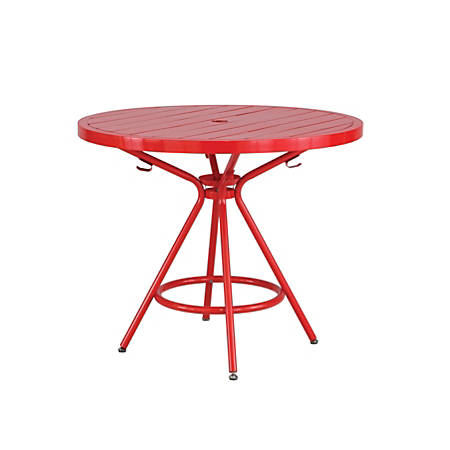 "Safco CoGo™ Outdoor/Indoor Round Table, 36"" Diameter, Red"