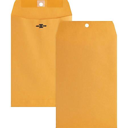 "Business Source Heavy-duty Metal Clasp Envelopes - Clasp - #55 - 6"" Width x 9"" Length - 28 lb - Clasp - Kraft - 100 / Box - Kraft"