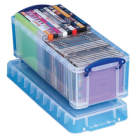 "Really Useful Box® Plastic Storage Box, 6.5 Liters, 17 1/2"" x 7"" x 6 1/4"", Clear"
