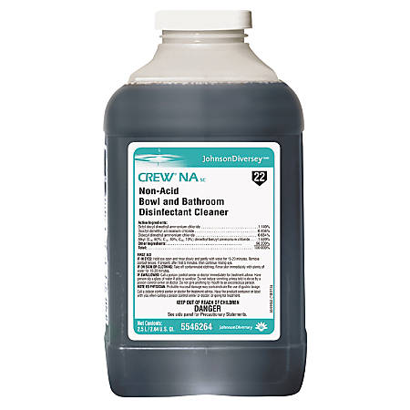 Diversey™ Crew® Nonacid Bowl And Bathroom Cleaner, Unscented, 84.5 Oz, Pack Of 2
