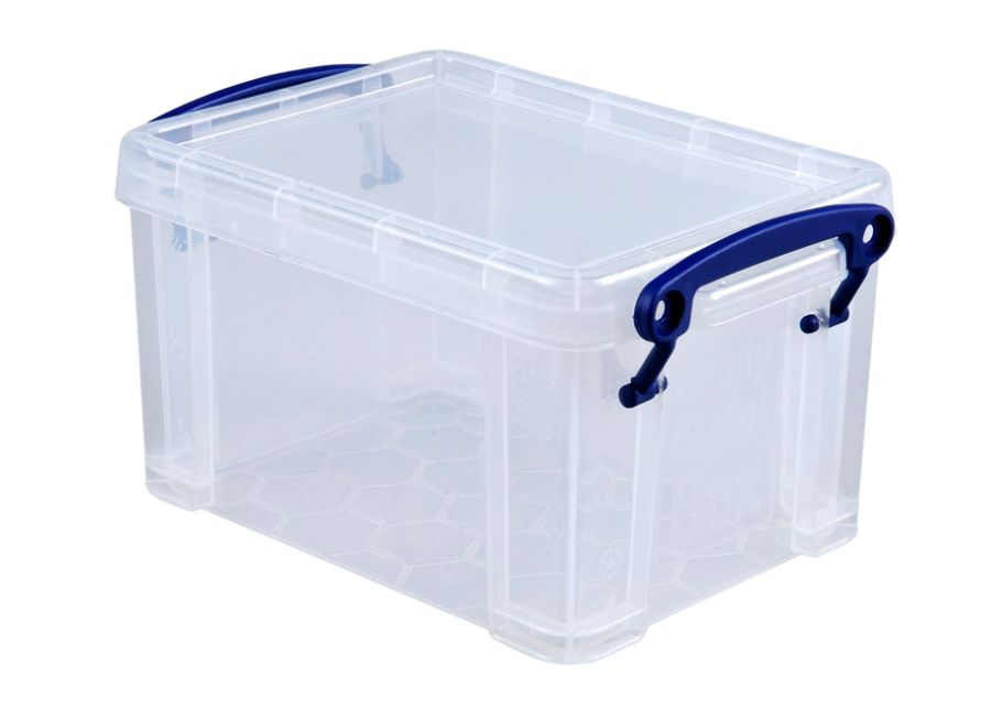 Really Useful Box Plastic Storage Box 1.6 Liters 7 12 X 5 14 X 4 14 Clear  By Office Depot U0026 OfficeMax