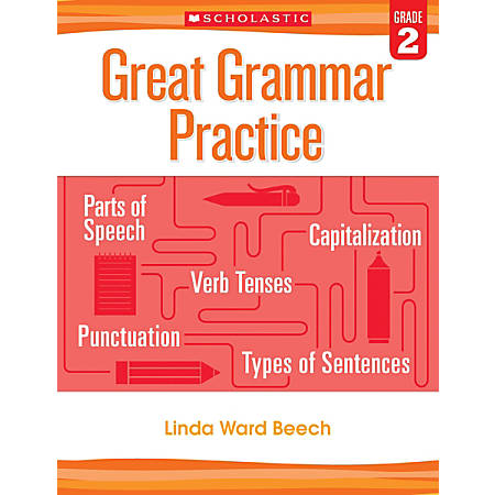 Scholastic Teacher Resources Great Grammar Practice Workbook, 2nd Grade, Red