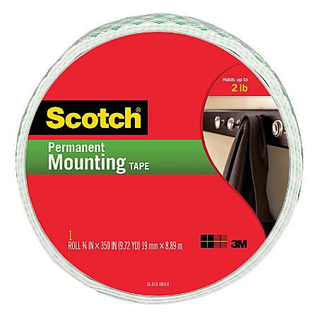 "Scotch® Permanent Heavy-Duty Mounting Tape, 3/4"" x 350"""