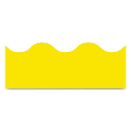 """Trend solid-colored Terrific Trimmers - (Scalloped) Shape - Reusable, Durable, Precut - 2.25"""" Width x 468"""" Length - Yellow - 1 / Pack"""