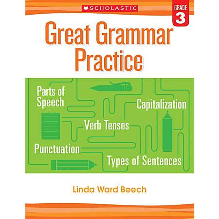 Scholastic Teacher Resources Great Grammar Practice Workbook, 3rd Grade, Lime Green