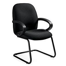 Global Enterprise Fabric Guest Chair GrayBlack