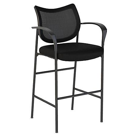 Bush Business Furniture Corporate Mesh Back Standing Desk Stool, Black, Standard Delivery
