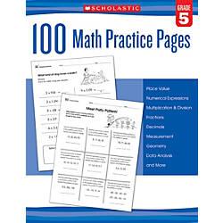 Scholastic Teacher Resources Math Practice Pages