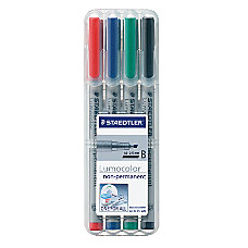 Staedtler Lumocolor 80percent Recycled Nonpermanent Markers