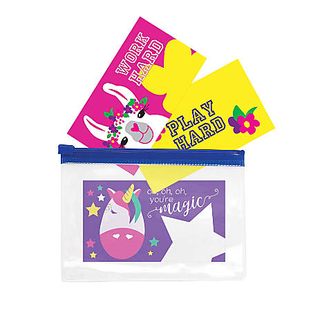 "So-Mine Printed Lunch Box Note Cards, 2"" x 3-1/2"", Assorted Colors, Pack Of 24 Cards"