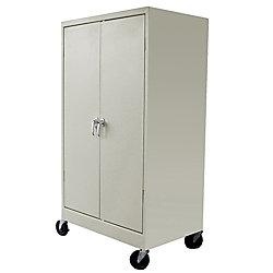 Atlantic Metal Industries Heavy Duty Mobile Storage Cabinet 3 Shelf Putty
