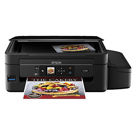 Epson® Expression ET-2550 EcoTank™ Supertank Wireless Color Inkjet  All-In-One Printer, Scanner And Copier Item # 453104