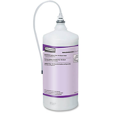 Rubbermaid Commercial One Shot Dispenser Lotion Soap Refill - 54 fl oz (1597 mL) - Kill Germs - Skin, Hand - Hypoallergenic, Fragrance-free, Dye-free, Disposable, Chemical Resistant - 4 / Carton