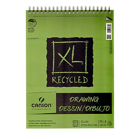 """Canson XL Drawing Pads, 11"""" x 14"""", 60 Sheets Per Pad, Pack Of 2 Pads"""