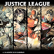 DateWorks Justice League Classic Wall Calendar