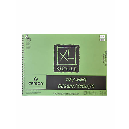 "Canson XL Drawing Pads, 18"" x 24"", 30 Sheets Per Pad, Pack Of 2 Pads"