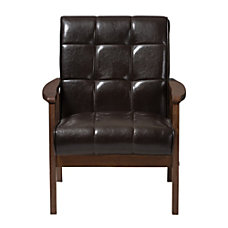 Baxton Studio Levin Faux Leather Club