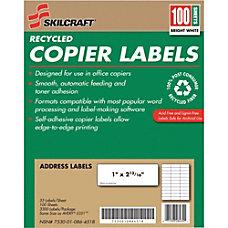 SKILCRAFT 100percent Recycled White Copier Address