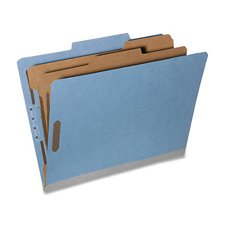 SKILCRAFT® Tyvek® Reinforced Classification Folders, Letter Size, 30% Recycled, Blue, Box Of 10 (AbilityOne 7530-01-418-1314)
