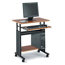Safco Muv Adjustable Height Workstation BlackCherry