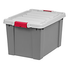 Office Depot Brand Plastic Storage Tote