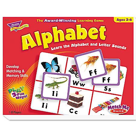 TREND Match Me Puzzle Game, Alphabet
