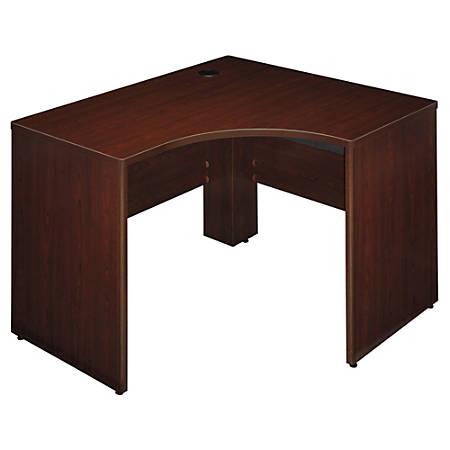 "Bush Business Furniture Quantum Corner Desk Left Handed, 48""W x 42""D, Harvest Cherry, Premium Installation"