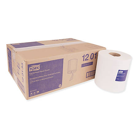 "Tork Advanced 1-Ply Centerfeed Paper Hand Towels, 8-1/4"" x 11-13/16"", White, 1,000 Towels Per Roll, Case Of 6 Rolls"